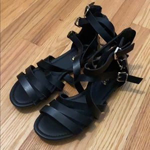 Black strapy sandals